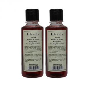 Khadi Herbal Sandal & Honey Body Wash - 210ml (set Of 2)