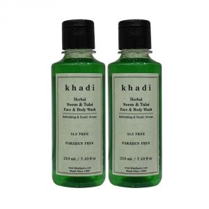 Khadi Herbal Neem & Tulsi Face And Body Wash Sls-paraben Free - 210ml (set Of 2)