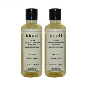 Khadi Herbal Orange & Lemongrass Body Wash Sls-paraben Free - 210ml (set Of 2)