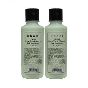 Globus,Clinique,Aveeno,Maybelline,Banana Boat,Khadi Personal Care & Beauty - Khadi Herbal Green Tea & Aloevera Hair Conditioner - 210ml (Set of 2)