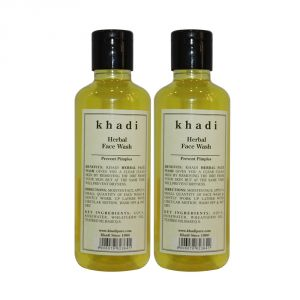 Khadi,Indrani,Banana Boat Skin Care - Khadi Herbal Face Wash - 210ml (Set of 2)