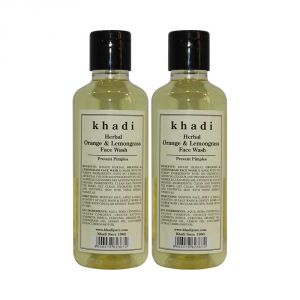 Khadi Herbal Orange & Lemongrass Face Wash - 210ml (set Of 2)