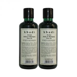 Khadi Herbal Amla & Bhringraj Hair Oil - 210ml (set Of 2)