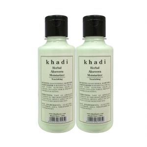 Nike,Maybelline,Kaamastra,Khadi,Ag,Davidoff,Jazz Personal Care & Beauty - Khadi Herbal Aloevera Moisturizer - 210ml (Set of 2)