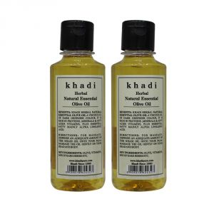 Khadi Herbal Natural Essential Olive Oil - 210ml (set Of 2)