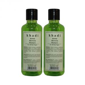 Khadi Herbal Aloevera Shampoo - 210ml (Set Of 2)