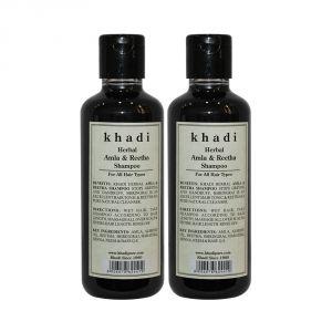 Khadi Herbal Amla & Reetha Shampoo - 210ml (Set Of 2)