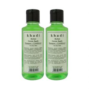 Khadi Herbal Green Apple Shampoo Conditioner - 210ml (set Of 2)