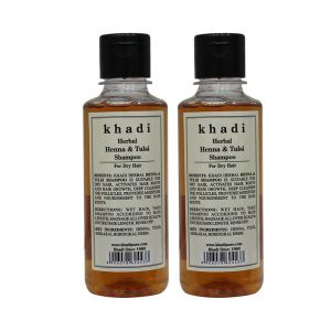 Nike,Maybelline,Khadi,Ag,Davidoff,Globus,Kaamastra,Viviana Hair Care - Khadi Pure Herbal Henna & Tulsi with Extra Conditioning Shampoo-210ml (Set of 2)