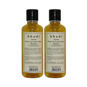 Khadi Herbal Honey & Lemon Juice Shampoo - 210ml (set Of 2)