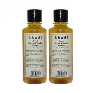 Khadi Herbal Honey & Vanilla Shampoo - 210ml (Set Of 2)