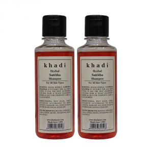 Khadi Herbal Satritha Shampoo - 210ml (Set Of 2)