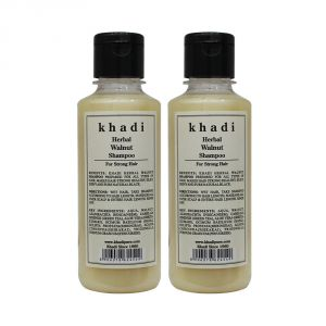 Khadi Herbal Walnut Shampoo - 210ml (Set Of 2)