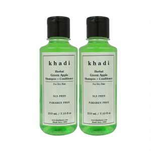 Khadi Herbal Green Apple Shampoo Conditioner Sls-paraben Free - 210ml (set Of 2)