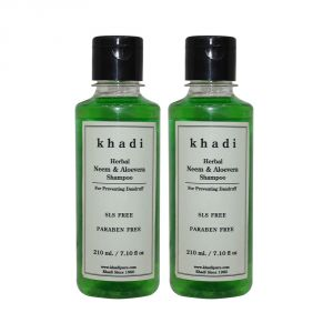 Khadi Herbal Neem & Aloevera Shampoo Sls-paraben Free - 210ml (set Of 2)