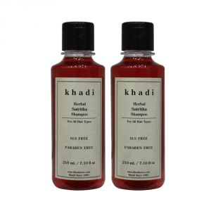 Khadi Herbal Satritha Shampoo SLS-Paraben Free - 210ml (Set Of 2)
