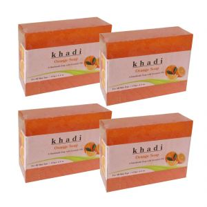 Khadi Herbal Orange Soap - 125g (set Of 4)