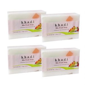 Khadi Herbal Mix Fruit Soap - 125g (set Of 4)