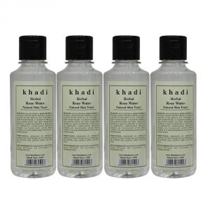 Personal Care & Beauty - Khadi Herbal Rose Water - 210ml (Set of 4)