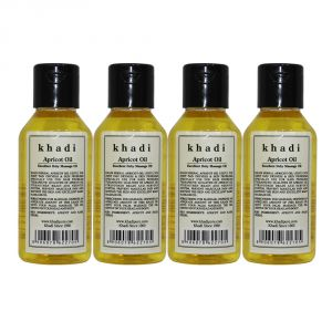 Khadi Herbal Apricot Oil - 100ml (set Of 4)