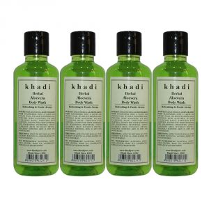 Khadi Herbal Aloevera Body Wash - 210ml (set Of 4)