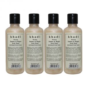 Khadi Herbal Jasmine & Mogra Body Wash - 210ml (set Of 4)