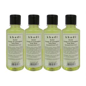 Khadi Herbal Orange & Lemongrass Body Wash - 210ml (set Of 4)
