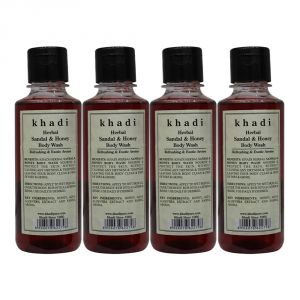 Khadi Herbal Sandal & Honey Body Wash - 210ml (set Of 4)