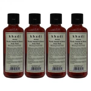 Khadi Herbal Woody Sandal & Honey Body Wash - 210ml (set Of 4)