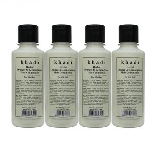 Nike,Jovan,Adidas,Kaamastra,Khadi,Globus,Calvin Klein Personal Care & Beauty - Khadi Herbal Orange & Lemongrass Hair Conditioner - 210ml (Set of 4)