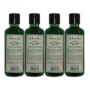 Khadi Herbal Amla & Brahmi Hair Oil - 210ml (set Of 4)