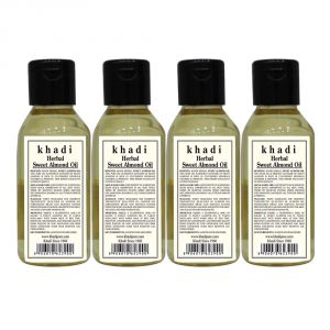 Khadi Herbal Sweet Almond Oil - 100ml (set Of 4)