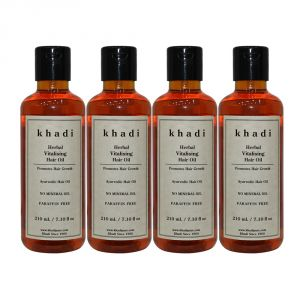 Khadi Herbal Vitalising Hair Oil - 210ml (set Of 4)