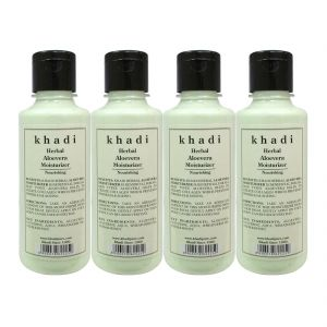Globus,Diesel,Khadi,Gucci,Brut Skin Care - Khadi Herbal Aloevera Moisturizer - 210ml (Set of 4)
