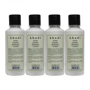 Globus,Diesel,Khadi,Banana Boat Skin Care - Khadi Herbal Jasmine Moisturizer - 210ml (Set of 4)