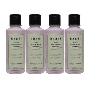Khadi Herbal Rose & Honey Moisturizer With Sheabutter Sls-paraben Free - 210ml (set Of 4)