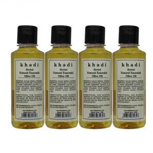 Khadi Herbal Natural Essential Olive Oil - 210ml (set Of 4)