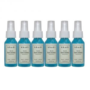 Khadi Herbal Hand Sanitizer - 50ml (set Of 6)