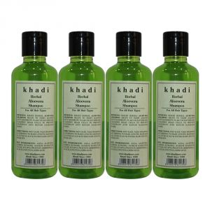 Khadi Herbal Aloevera Shampoo - 210ml (Set Of 4)