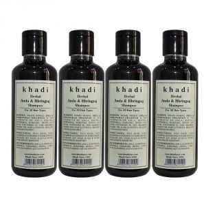 Khadi Herbal Amla & Bhringraj Shampoo - 210ml (Set Of 4)