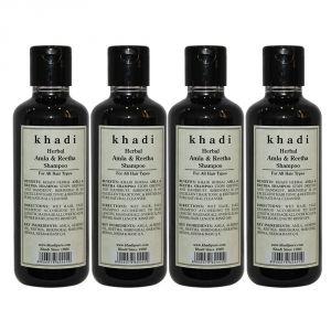 Khadi Herbal Amla & Reetha Shampoo - 210ml (Set Of 4)