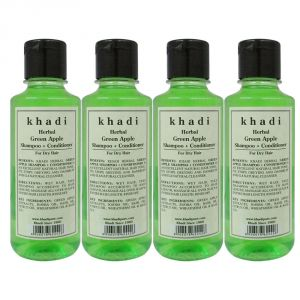 Khadi Herbal Green Apple Shampoo Conditioner - 210ml (set Of 4)