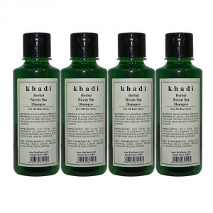 Khadi Herbal Neem Sat Shampoo - 210ml (set Of 4)