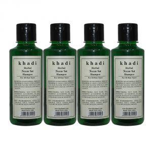 Khadi Herbal Neem Sat Shampoo - 210ml (Set Of 4)