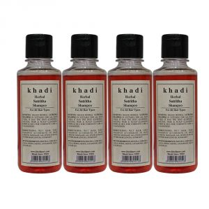 Khadi Herbal Satritha Shampoo - 210ml (Set Of 4)