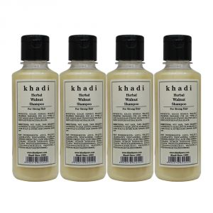 Khadi Herbal Walnut Shampoo - 210ml (Set Of 4)