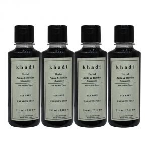 Khadi Herbal Amla & Reetha Shampoo SLS-Paraben Free - 210ml (Set Of 4)