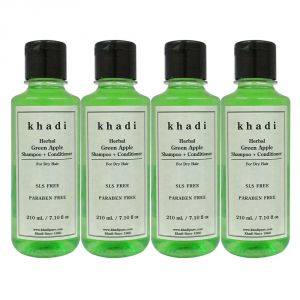 Khadi Herbal Green Apple Shampoo Conditioner Sls-paraben Free - 210ml (set Of 4)