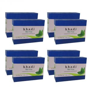 Khadi Soaps - Khadi Herbal Mint Soap - 125g (Set of 8)