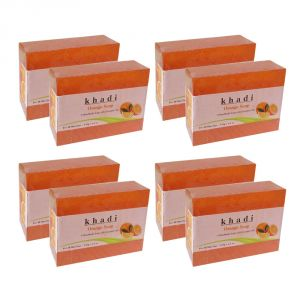 Khadi Herbal Orange Soap - 125g (set Of 8)